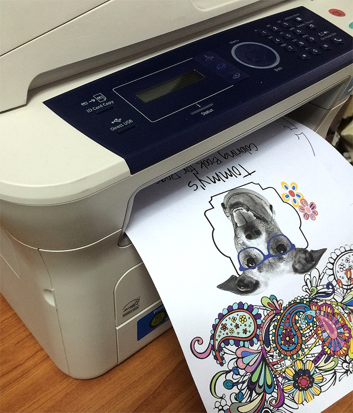 Tommy Coloring Book printing