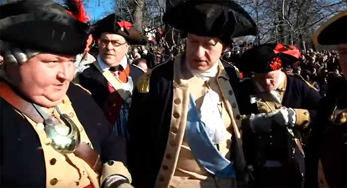 Washington Crosses the Deleware-Reenactment
