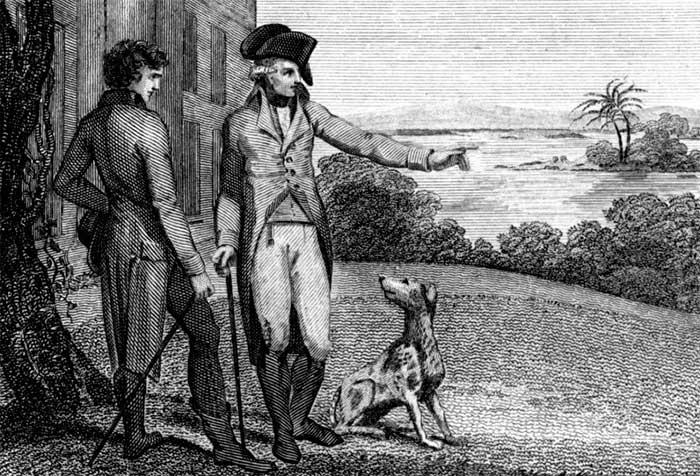 Washington and his dog