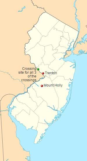 Map of the Delaware Crossings