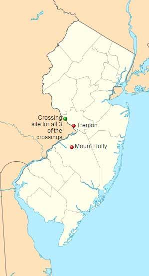 Map of the Delaware Crossings