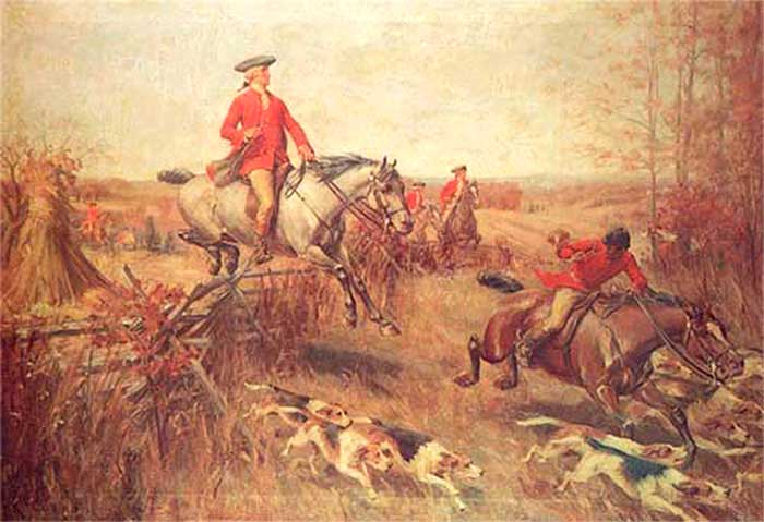 Washington fox hunting in Virginia